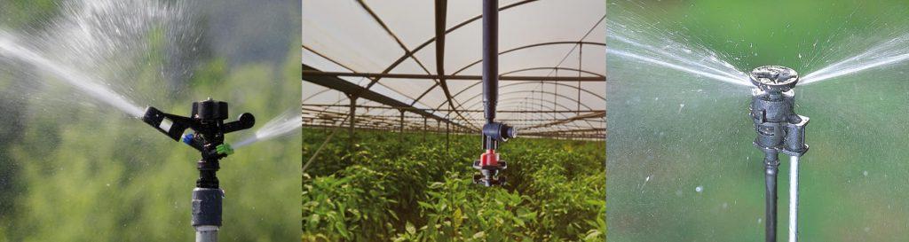 Microirrigatori e irrigatori in pieno campo